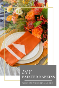 DIY painted napkins