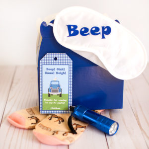 little blue truck pajama party favors