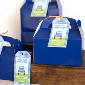 little blue truck party favors