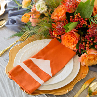 How to Paint Fabric Napkins