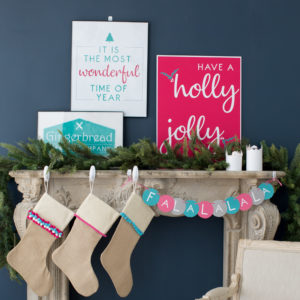 modern holiday mantle ideas