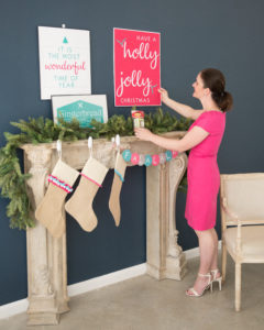 how to hang holiday posters