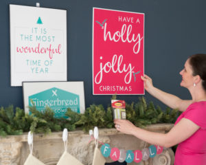 hanging holiday posters
