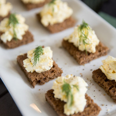 How to Make Smoked Egg Salad Sandwich Appetizers