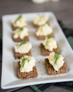 smoked egg salad appetizers