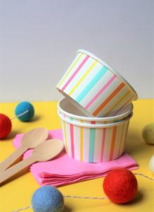 ice cream bowls for a gift basket