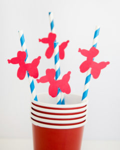 DIY paper straw toppers